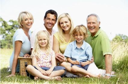 家族と自然