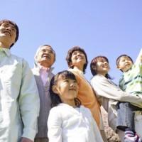 太陽の光と家族